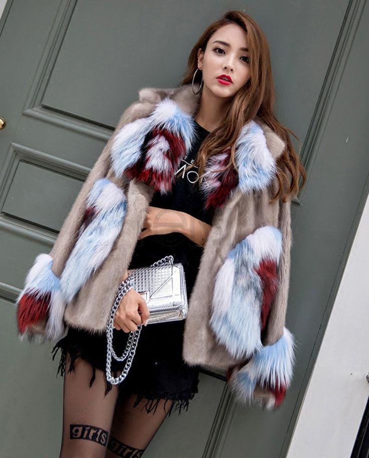 Mink Fur Jacket With Fox Fur Trim