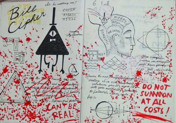gravity falls   Gravity Falls Journal 3 Replica - Bill Cipher page by leoflynn