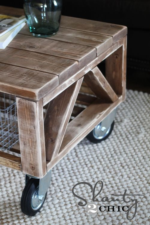How to build a coffee table w/ no screws/nails showing by blog sisters - Shanty 2 Chic