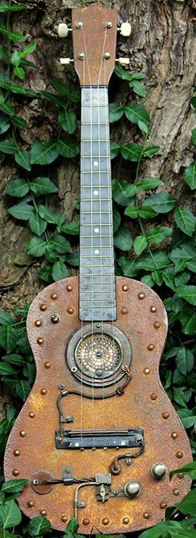 Clearly there wasnt a Ukulele of the day a year ago as there wasnt a 29th Feb last year so here is a special for today Steampunk Tenor Ukulele (may even be a Baritone but its a nice decoration job) --- https://www.pinterest.com/lardyfatboy/
