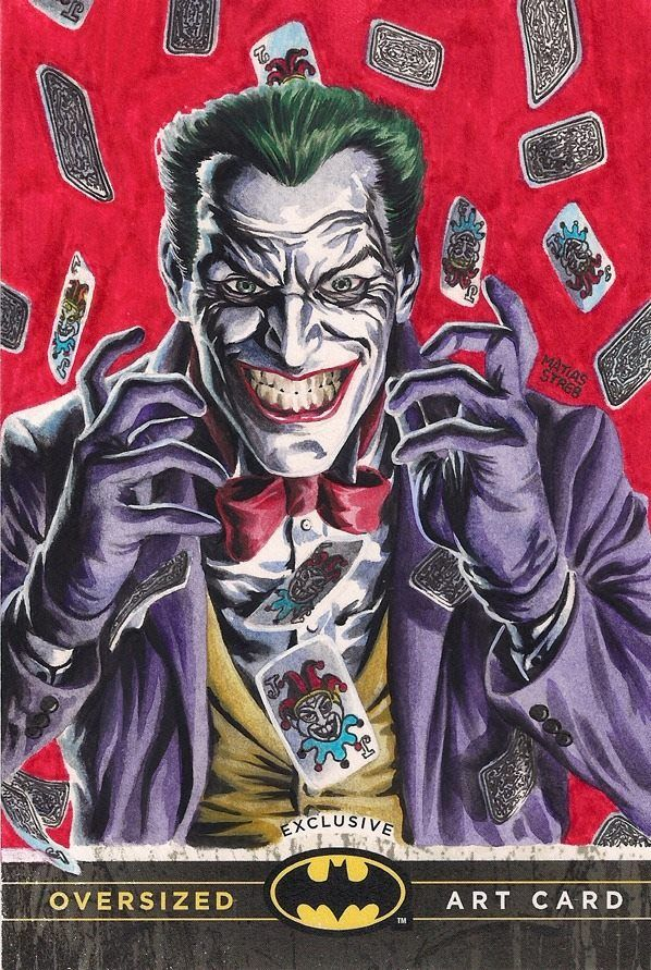 Multilayer STEP BY STEP airbrush stencil joker with batman card