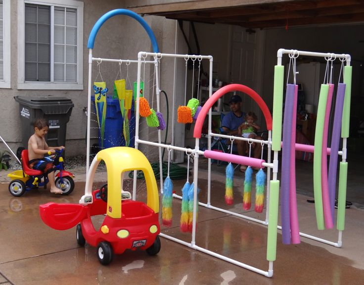 Kid's Car Wash Easy to make, crazy fun outdoor play! Lowe