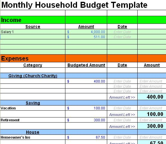 25 best ideas about Home Budget Template – Sample Spreadsheet Templates