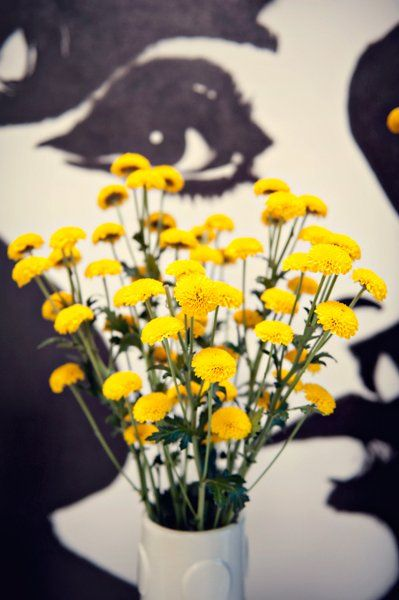 Garden Spring Yellow Centerpiece Wedding Flowers Photos & Pictures - WeddingWire.com