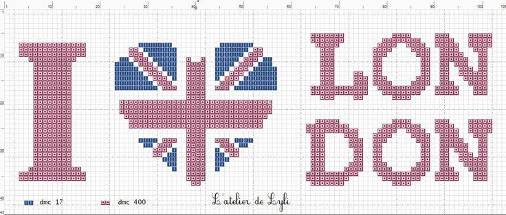Je vous propose une grille gratuite... sur London La grille : 100 points x 43 points en 2 couleurs (rouge et bleu)