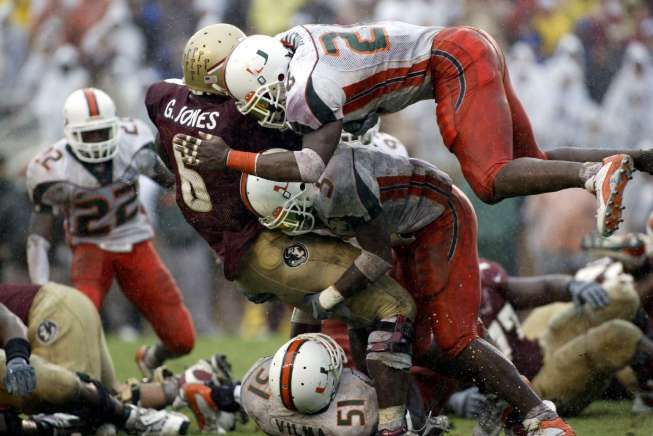 Sean Taylor and The U destroying FSU in the 2004 Orange Bowl!
