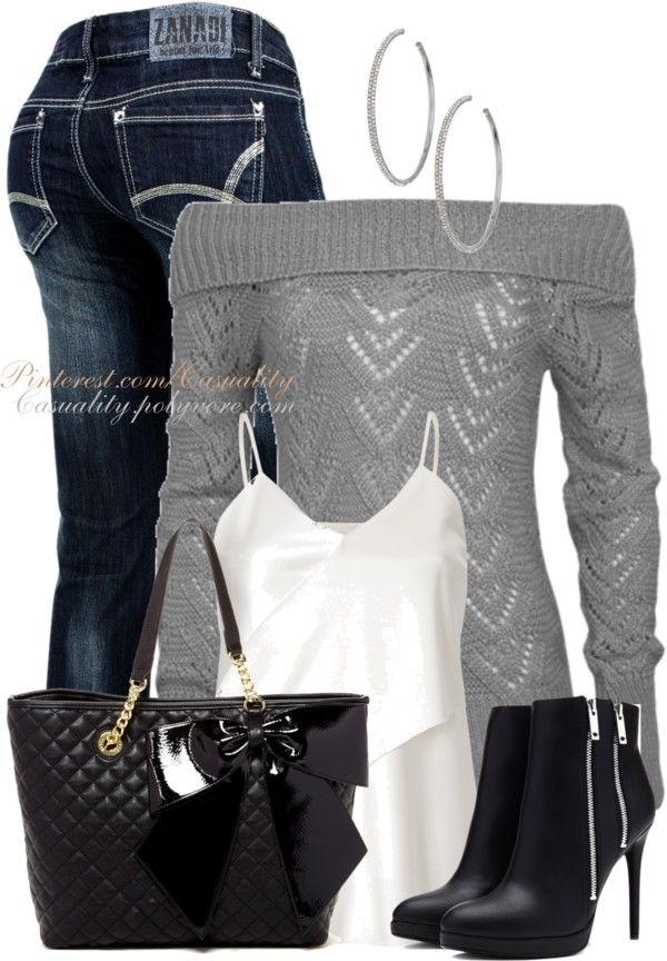 Nice shoes ! Casual and Cozy Fall Outfits Polyvore Combination 2014 - Be Modish - Be Modish