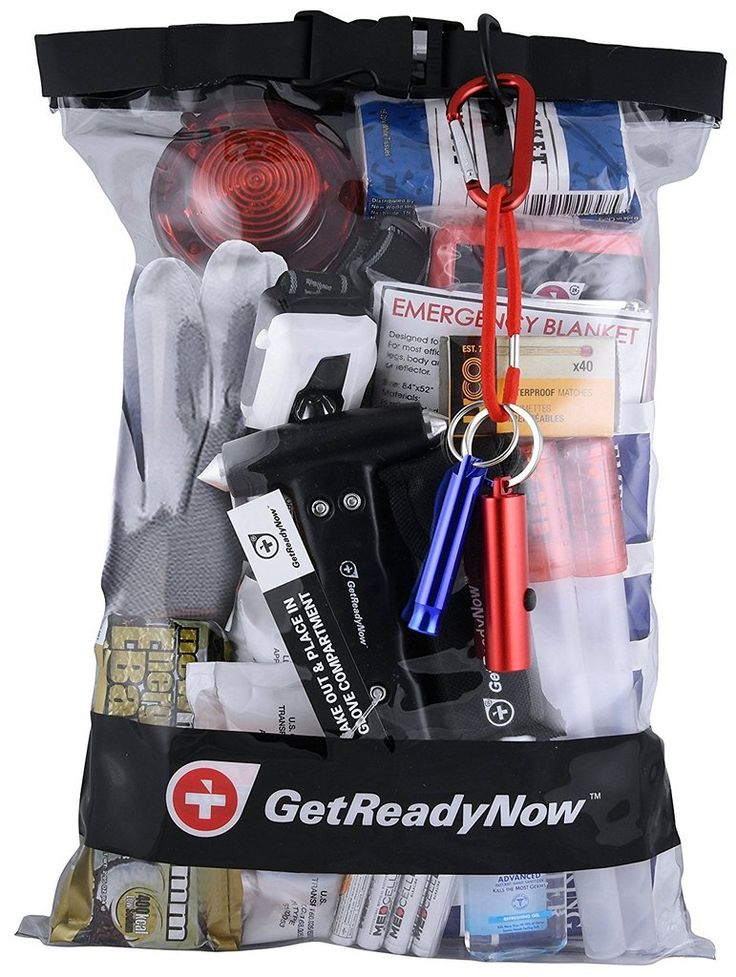 GetReadyNow Deluxe Car Emergency Kit