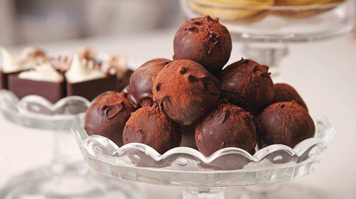 Julens godaste tryfflar #recept #efterrätt #tryffel #choklad #dessert