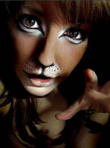 Makeup Animal. crayon maquillage noir: http://www.feezia.com/univers/accessoires-de-fete/maquillage-1/crayon-maquillage-noir-3-gr.html maquillage