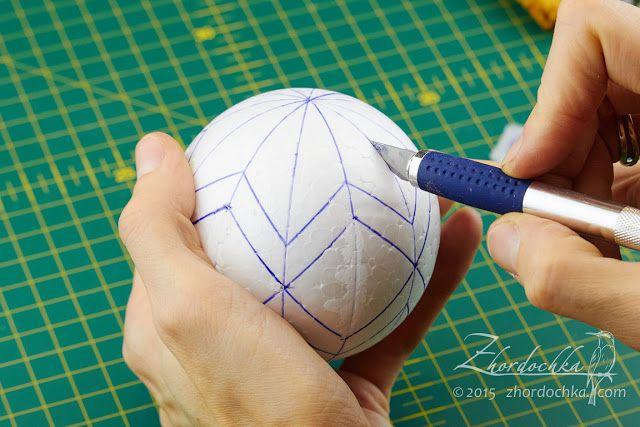 "На жёрдочке: Совместный проект ""Шары кимекоми"". Шар второй / Kimekomi ball tutorial 2"