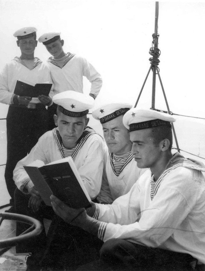 Sailors of the Albanian People's Navy.