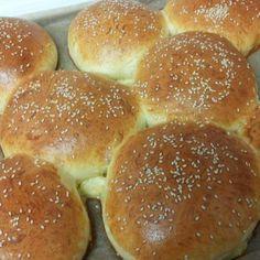 Rezept Hamburger Brötchen extra fluffig (von Slava) von pmailaender - Rezept der Kategorie Brot & Brötchen
