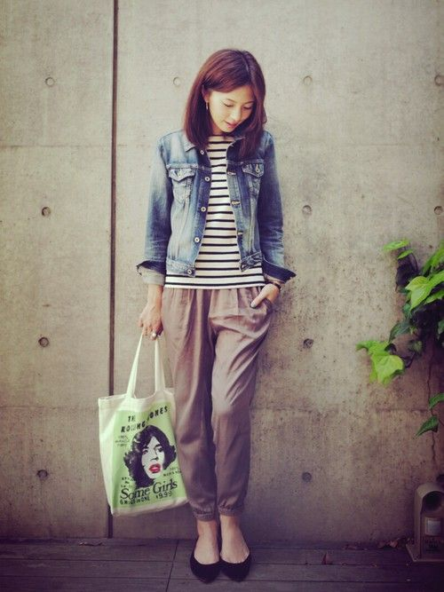 920  523   安田美沙子さんのデニムジャケット「VICTIM ジージャン」を使ったコーディネート