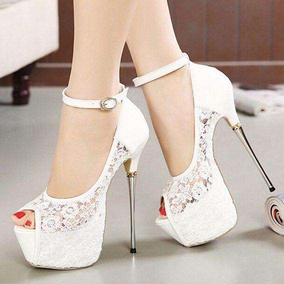 Women/'s Platform Strappy Buckle High Heels Stiletto Pumps Party Wedding Shoes