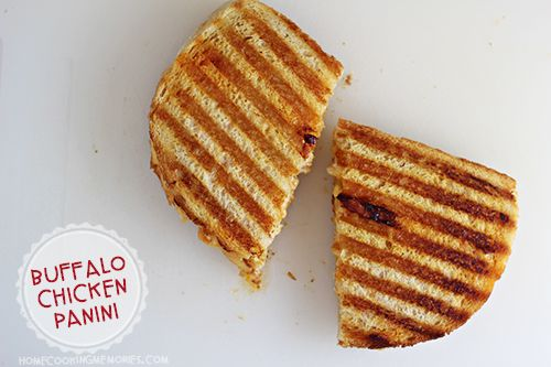 Buffalo Chicken Panini. This is the easiest MOST DELICIOUS thing I've ever made  its restaurant quality for sure