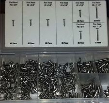 320 PIECE STAINLESS STEEL SCREWS INTERIOR EXTERIOR TRIM MOULDING DASH UPHOLSTERY