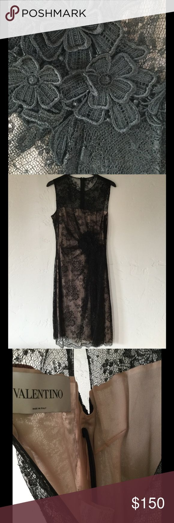 Valentino Slip Dress Black Lace Size 6 Italy Beautiful. needs a little ironing to the flowers. Valentino Spa. Italy Valentino Dresses Maxi