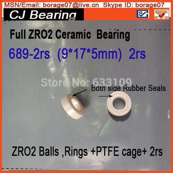 $22.50 (Buy here: https://alitems.com/g/1e8d114494ebda23ff8b16525dc3e8/?i=5&ulp=https%3A%2F%2Fwww.aliexpress.com%2Fitem%2FFull-zro2-689-2rs-Ceramic-bearing-9-17-5-MM-zirconia-bearing-ZrO2-high-temperature-insulation%2F32251060499.html ) Full zro2  689-2rs Ceramic bearing 9 * 17 * 5 MM 689 2RS  zirconia bearing / ZrO2 /  high temperature insulation corrosion for just $22.50