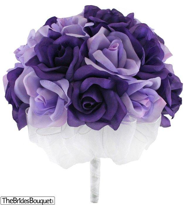 TheBridesBouquet.com - Purple and Lavender Silk Rose Hand Tie (2 Dozen Roses) - Bridal Wedding Bouquet, $34.99 (http://www.thebridesbouquet.com/purple-and-lavender-silk-rose-hand-tie-2-dozen-roses-bridal-wedding-bouquet/)