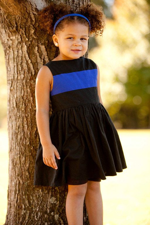 Original Thin Blue Line Dress  show your support for law enforcement and first responders!  Police, Sheriff deputy, firefighter by BananaCherryPie