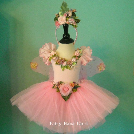 Flower Fairy - Pink Toddler Fairy Costume size 2 to 4 - or made to order 4 - 8 for Birthday - Flower Girl - photo Prop via Etsy