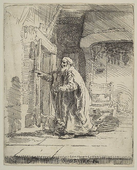 The Blindness of Tobit Rembrandt (Rembrandt van Rijn)  (Dutch, Leiden 1606–1669 Amsterdam)