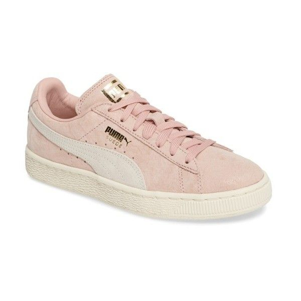 Women's Puma Suede Classic Shine Sneaker (€66) ❤ liked on Polyvore featuring shoes, sneakers, puma shoes, shiny shoes, puma footwear, puma sneakers and polish shoes