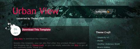 Urban View Blogger Template - ThemeCraft.net