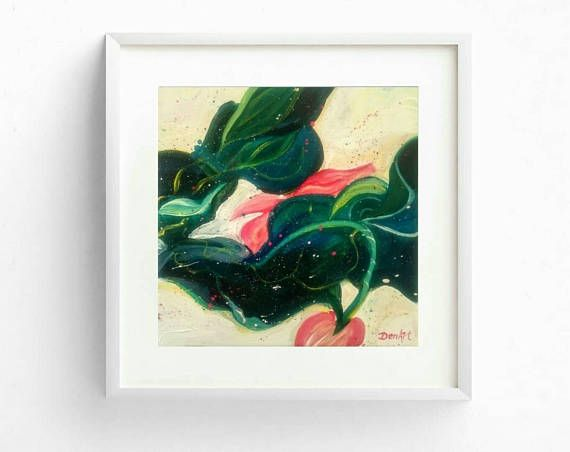 Free shippingAbstract floral original paintingImpasto
