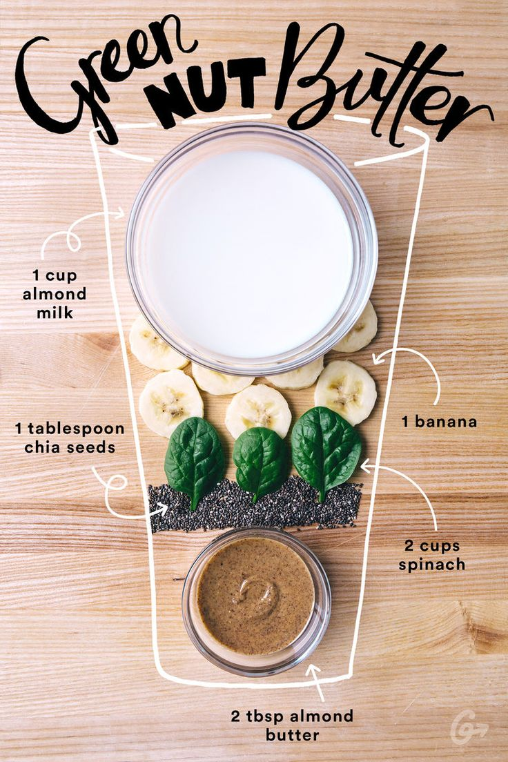 9. Green Nut Butter  #greatist http://greatist.com/eat/simple-smoothie-recipes