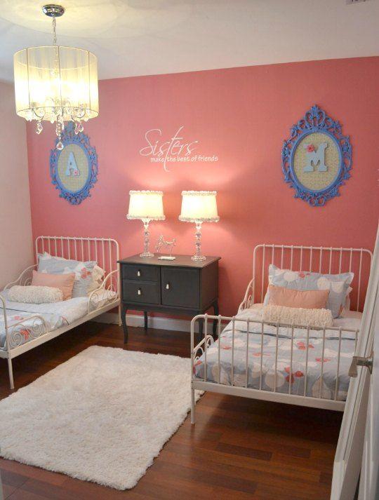 deco cadre ovale chambre jumelles - Chambre Double Fille