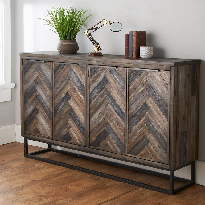 Alpine Modern Buffet Cabinet Modern Buffet Painting Wooden Furniture Rustic Sideboard