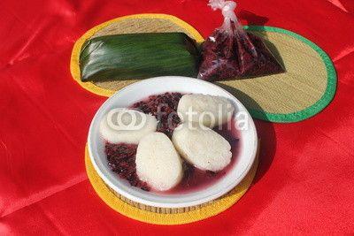 Traditional food called as Ketan Uli or glutinous rice.