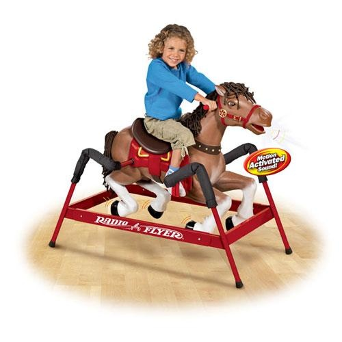 Radio flyer horse total recall pinterest radios for Scooter rocking horse