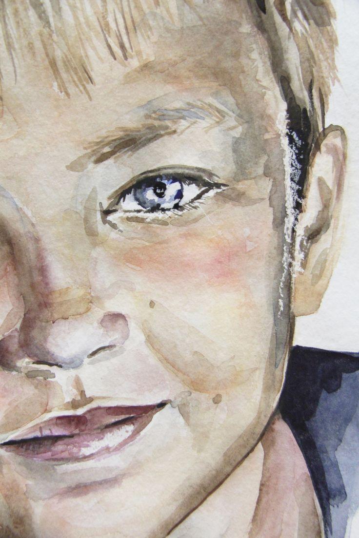The portrait for Daniel, Waterсolour, fragment of painting, 40х50, 2017