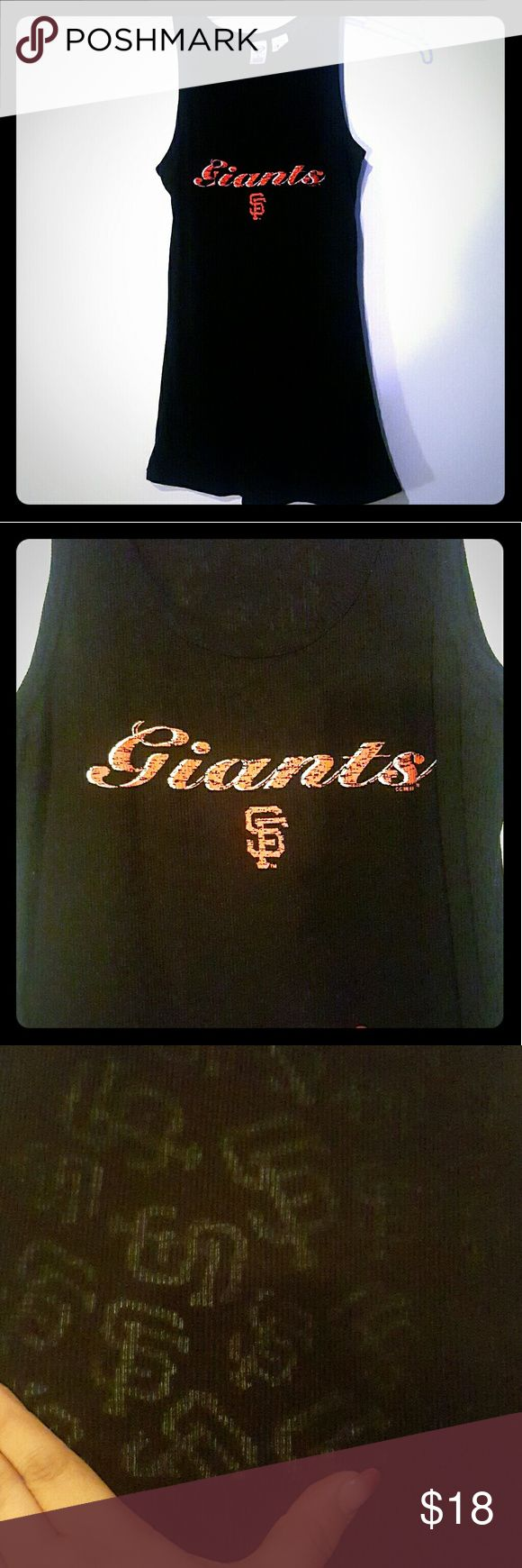 SF Giants Ladies Tank Black MLB SF Giants Ladies Tank top. Worn once. In great shape. Has logo hidden in material. See 3rd image for example Concept Sports Tops Tank Tops