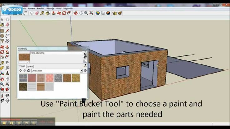 Google SketchUp Tutorial Basics: How to build a simple house (door, wind...