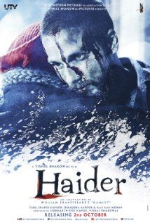 "Haider (2014) A young man returns to Kashmir after his father's disappearance to confront uncle - the man who had a role in his father's fate.  Director: Vishal Bhardwaj Writers: William Shakespeare (based on the play ""Hamlet"" by), Basharat Peer (screenplay), 2 more credits » Stars: Tabu, Shahid Kapoor, Shraddha Kapoor  8.9"