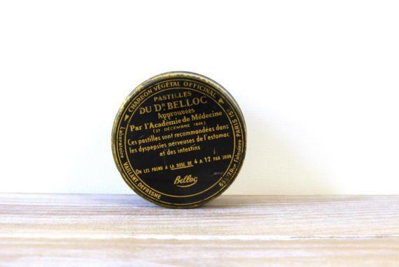 French vintage collectible tin box Pastilles du Dr Belloc