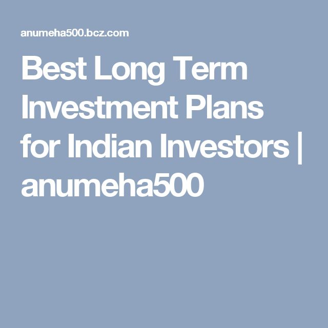 Best Long Term Investment Plans for Indian Investors  | anumeha500
