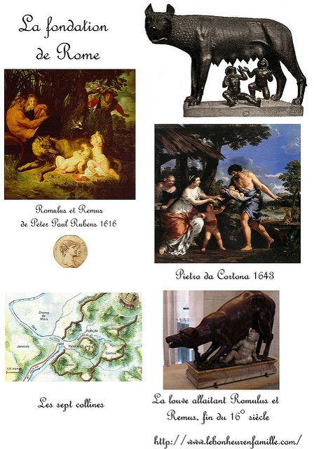 La fondation de Rome, Romulus et Remus