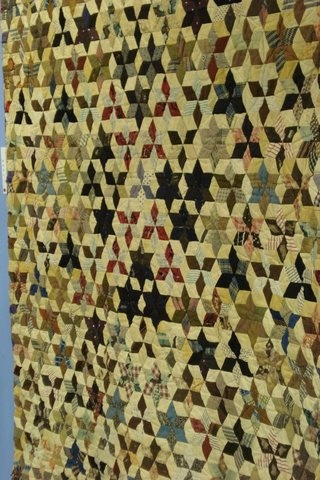 An antique quilt from Sweden ~ just 60 degree diamonds.  Wonderful.