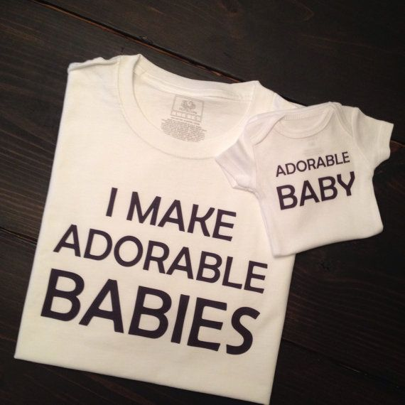 Adorable baby I make adorable babies bodysuit funny onesie for baby shower or special event on Etsy, $27.00
