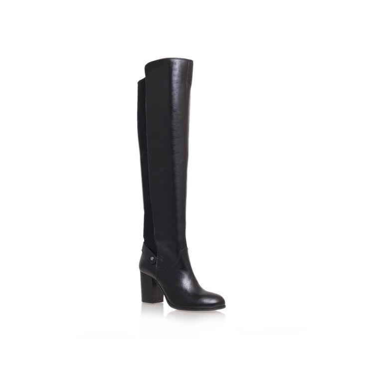 wooden, black shoe by carvela kurt geiger - women shoes boots