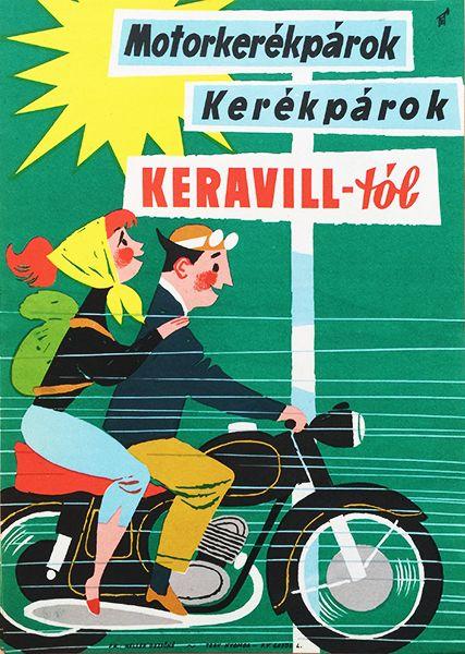 Motorcycles, bicycles from Keravill / Motorkerékpárok, lerékpárok a Keravilltól 1960s