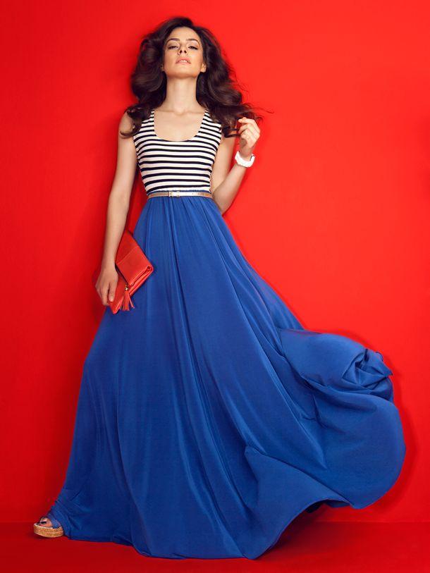 Markafoni, Ozge Ozpirincci - Blue skirt <3