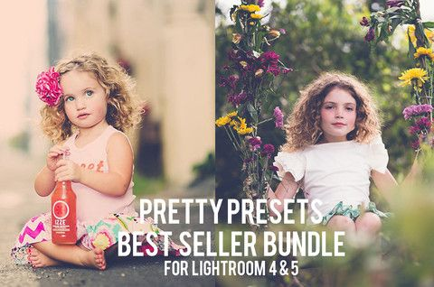 Two of our best selling collections in one bundle! Pretty Presets Best Seller Bundle for Lightroom 4 and Lightroom 5. We help you work smarter, not harder.