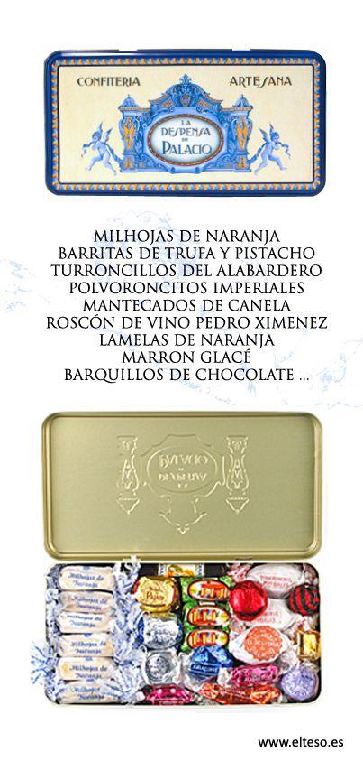 "DULCES DE NAVIDAD ""LA DESPENSA DE PALACIO"" (lata litofgrafiada 1 kg.) #ComprarOnline #GourmetOnline"