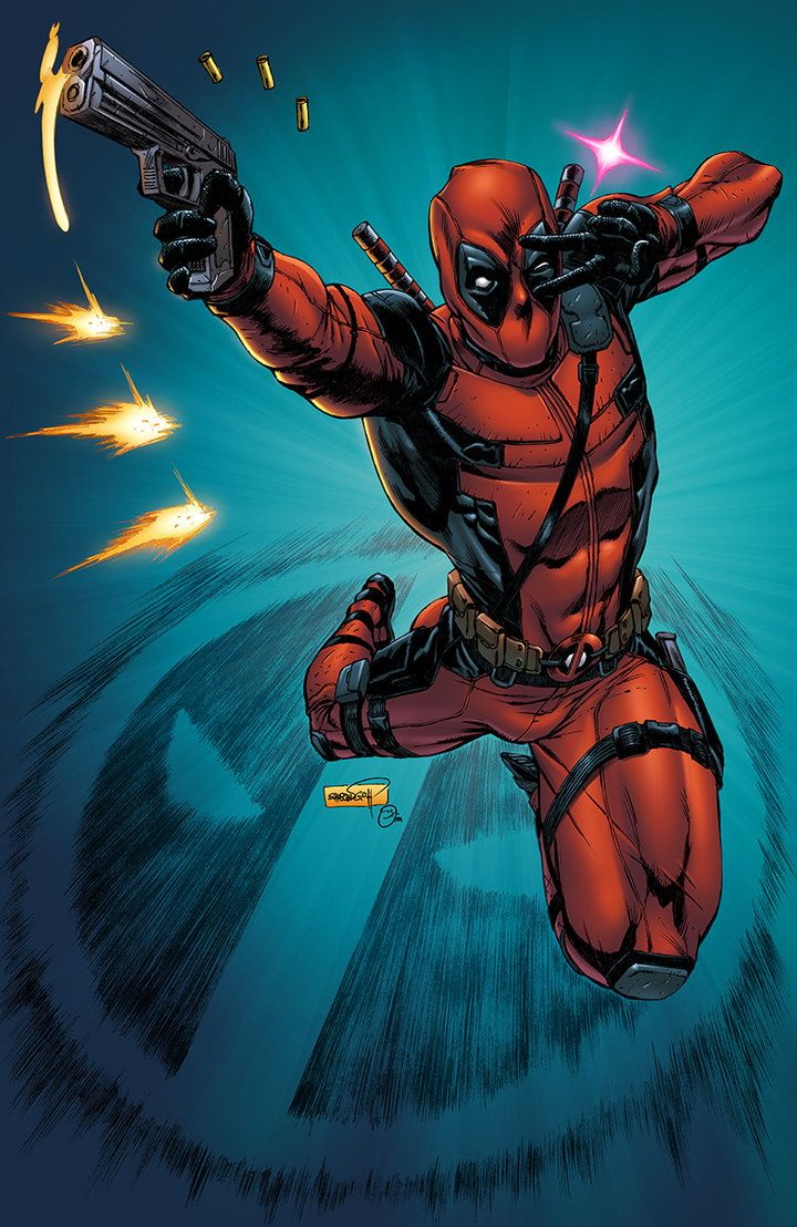 Deadpool: Kawaii!!! - colored illustrated by Sheldon Goh  colored by me - Omi Remalante